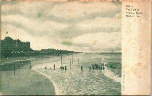 The Surf at Virginia Beach, Norfolk, Virginia - POSTCARD - PC