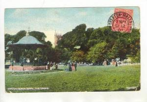 Weston-super-Mare,Somerse t. UK, PU-1907, Bandstand, The Grove