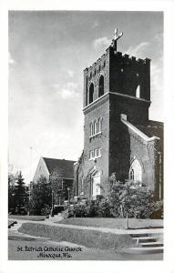 Minocqua Wisconsin~St Patrick Catholic Church Little Tree B&W 1950 Postcard