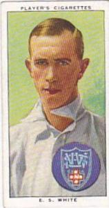 Player Vintage Cigarette Card Cricketers 1938 No 50 E S White New South Wales