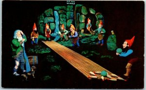 ROCK CITY GARDENS Postcard Fairyland Caverns Rip Van Winkle Chattanooga TN