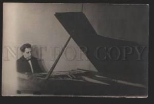 116512 EYGENSON Russian Jewish PIANIST Musician old PHOTO RARE