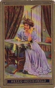 Humour Woman On Telephone Hello Hello Hello 1909