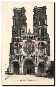 Old Postcard Laon cathedral