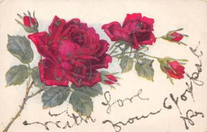 Kentucky Ky Postcard c1910 Glitter Greetings from FOXPORT Flowers