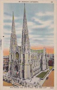 New York City Saint Patricks Cathedral 5th Avenue And 50th Street
