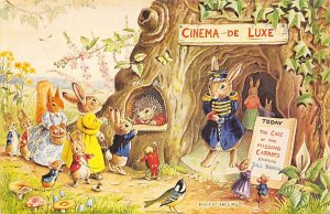 Rabbit Post Card Woodland Cinema, Racey Helps London, England Unused
