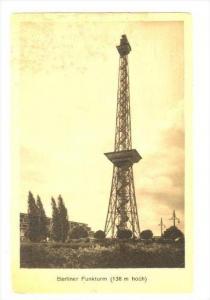 The Berliner Funkturm, Radio Tower Berlin, Germany, 1900-1910s