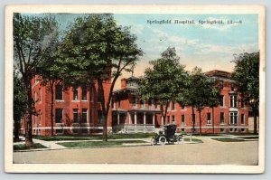 Springfield Illinois~Springfield Hospital~Vintage Car in Front~1924