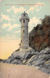 Balboa Panama Canal Channel Lighthouse Scenic View Antique Postcard J72552