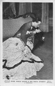 Actors: Miss Doris Keane & Mr. Basil Sydney in Romance Kissing Scene
