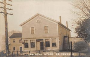E81/ Edinburg Ohio RPPC Postcard c1910 W.A. Goss General Store