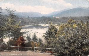 NORTH WOODSTOCK NEW HAMPSHIRE FRANCONIA RANGE FROM ARTISTS' VIEW POSTCARD 1910s