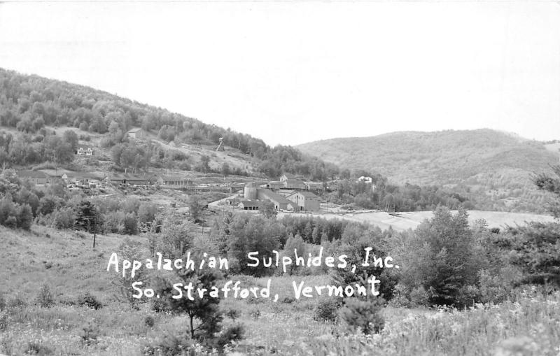 South Strafford Vermont~Appalachian Sulphides Inc~Factory~1956 RPPC