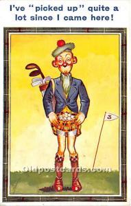 I've picked up quite a lot since I came here Golf 1935 Missing Stamp indentat...