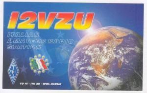 QSL card Italy, Earth, 2000