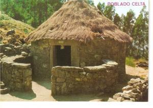Postal 045885 : La Guardia (Pontevedra). Monte de Santa Tecla. Poblado Celta