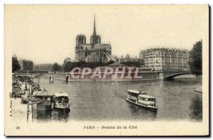 Old Postcard Paris Pointe de la Cite