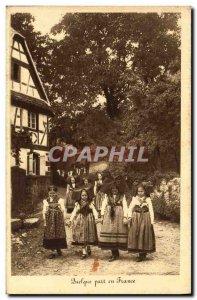Old Postcard Folklore Alsace Somewhere in France