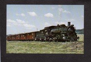 CO Cumbres & Toltec Railroad Train Locomotive No 484 Antonito Colorado Postcard