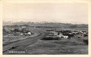 Wendover NV Town View Mountains Real Photo Postcard
