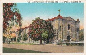 SAN GABRIEL, California, 1900-1910s; General View Of San Gabriel Mission