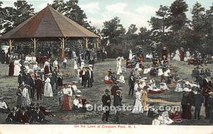 Crescent Park, Rhode Island, RI, USA Postcard On the Lawn Unused