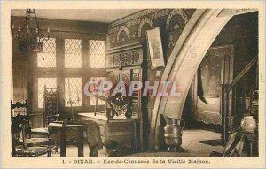 Postcard Old Dinan Ground Floor Old House