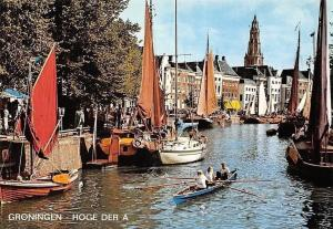 Netherlands Groningen Hoge der A, Harbour Boats Port Bateaux