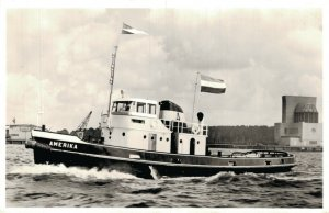 Tugboats Ships Europa M.S Middelbank and more RPPC Postcard Lot of 8 01.17