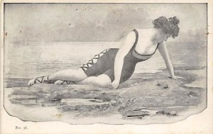 Bathing Beauty Post Card Unused