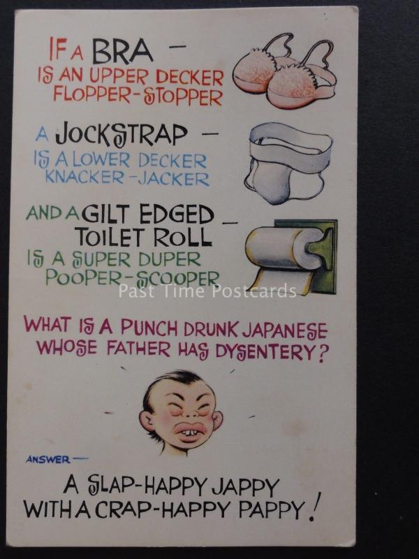 Comic Toilet Theme JOCKSTRAP IS A LOWER DECKER KNACKER JACKER by Bamforth 156