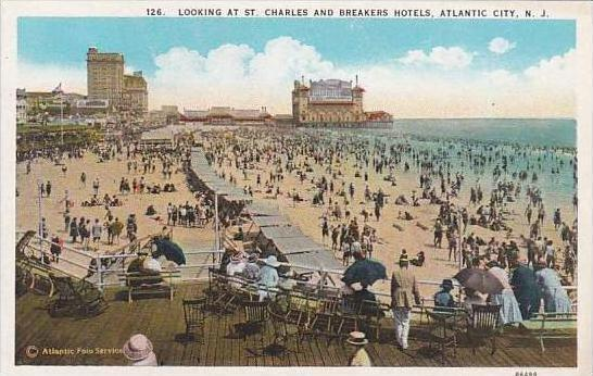 New Jersey Atlantic City Looking At St Charles And Breakers Hotels