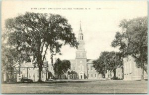 Hanover, New Hampshire Postcard DARTMOUTH COLLEGE Baker Library 1938 Cancel