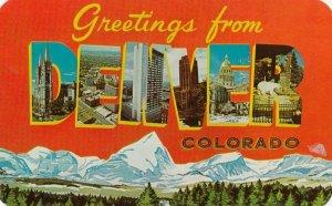 Large Letter DENVER , Colorado , 1950-60s