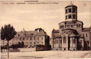 CPA L' Auvergne ISSOIRE Eglise St-Paul et le College (409730)