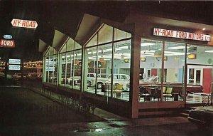 Montreal Quebec Hy-Road Ford Dealership Postcard