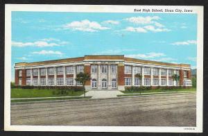 East High School Sioux City Iowa Unused c1920s