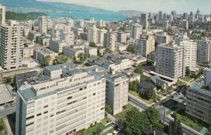 VANCOUVER , British Columbia, Canada, 1970; West End Apartments & Harbour