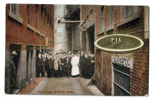 P1261 old unused postcard pie alley boston mass
