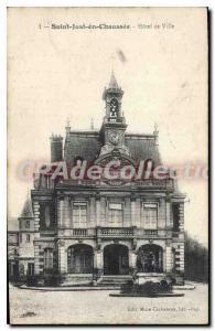 Postcard Old Saint-Just-en-Chauss?e Hotel De Ville