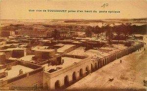 Algeria Une vue de Touggourt Prise d'en Haut du Poste Optique Postcard