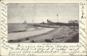 Watch Hil RI Lighthouse Point c1905 Postcard
