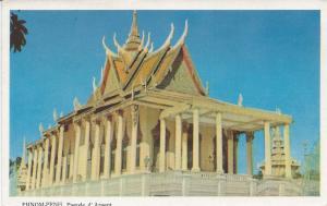 Pagoda of Argent, Phnom Penh, Cambodia, Vintage Postcard, Unused