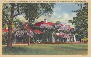 Millpond Residence Of J H Wade Family Covered With Beautiful Arroy Of Wisteri...