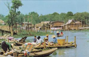 Floating Market , BANGKOK , Thailand , 50-60s