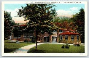 Montreat North Carolina~Anderson College Auditorium~1933 Linen Postcard