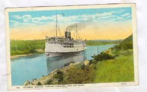 Steamer Boston passing through Cape Cod Canal, 10-20s