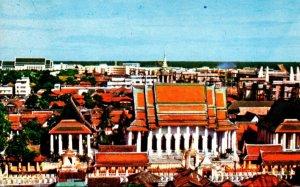Thailand Bangkok Scenery At Wat Rajanadda-Ram