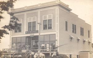 Gleason Wisconsin~Folks at WC Weisel General Store~Sharples Separators~1912 RPPC